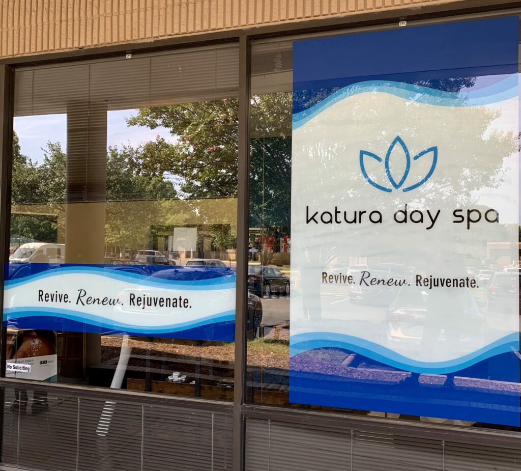 store-front signage for Katura Day Spa